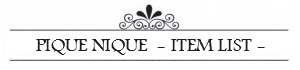 PiqueNique*blog