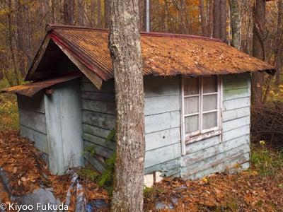 晩秋の八美里小屋