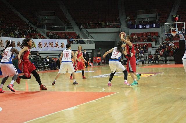 CBA&WCBA(中国プロバスケットボールリーグ)上海チーム奮闘中です ...