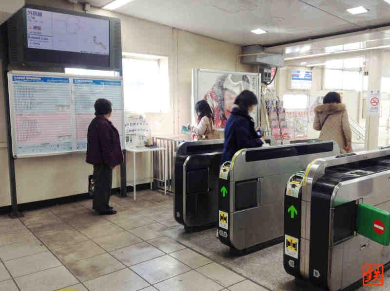 西川口駅スタンプ台設置場所
