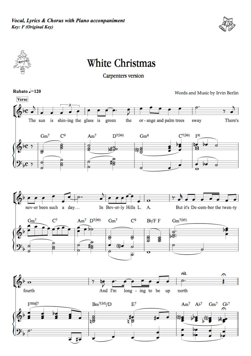 カーペンターズのホワイト・クリスマス:White Christmas - Carpenters ...