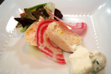帆立貝とずわい蟹のブーダン
