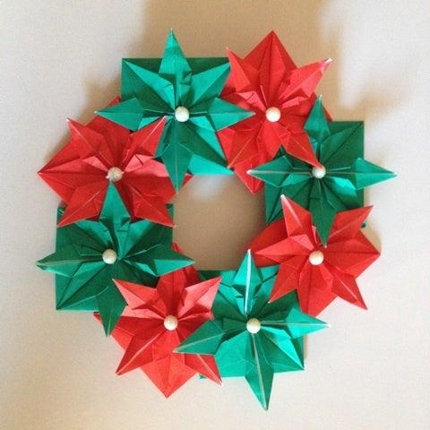 クリスマス 折り紙 折り紙 クリスマスリース : matome.naver.jp