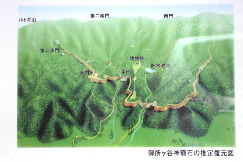 御所ヶ谷神籠石/予想復元図