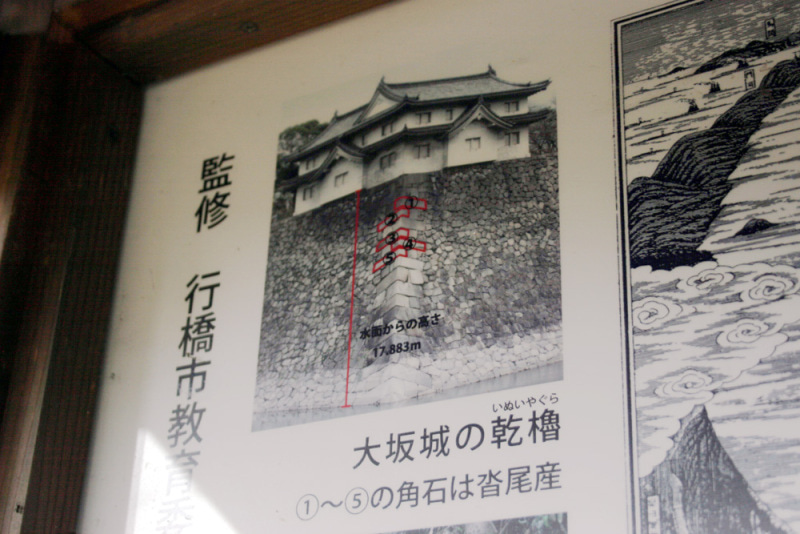 久津尾崎城/大坂城の石垣の説明