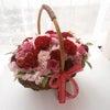 ディズニーのテーマに合わせた赤バラのかごブーケを三重県の新婦様へお届けいたしました。の画像