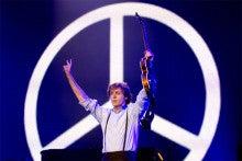 Paul with Peace Mark