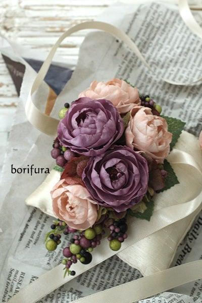 リストレット ピンクベージュと薄紫