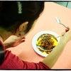 足に華を咲かせましょう❤⑱ 雪の華ネイル。と簡単エスニック定食レシピ!の画像