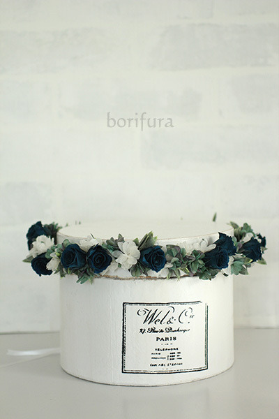 紺 ネイビー 花冠
