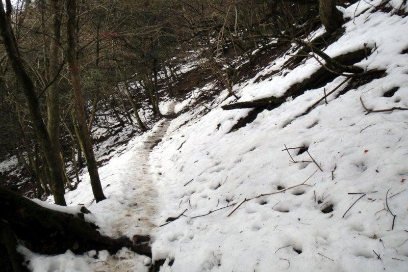 古処山城/⑨登山道雪深く