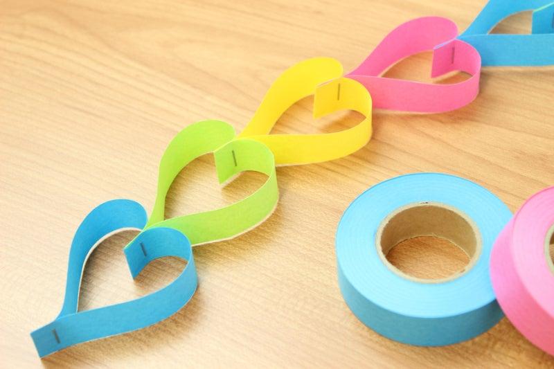 紙テープ-ハート-1