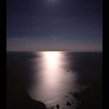 月明かりに照らされて…
