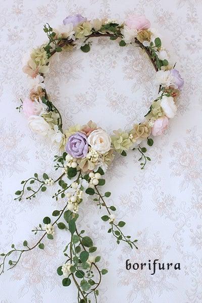 花嫁 フラワーリース