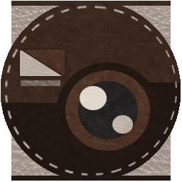 ファブリックサークル チョコ色の革アイコン ホーム画面 Andro Home