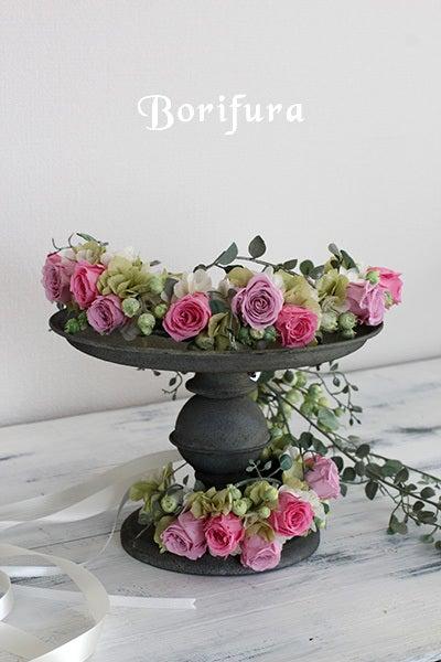 花冠 アームレット ピンク