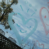 ピンクの♡とブルーの♡の画像