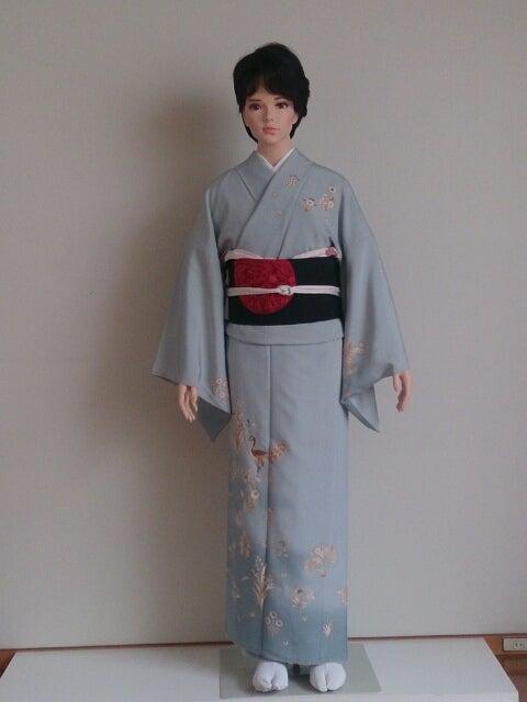 水色の着物に帯四本   カラリストayakoの着物コーディネート