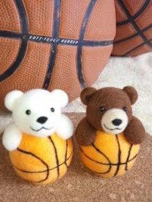 羊毛フェルト☆ボールは友達だべぁ~♪バスケ熊