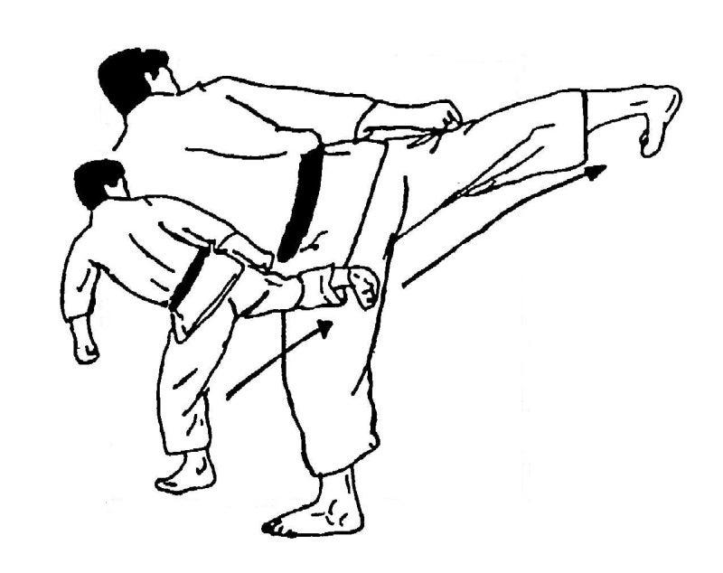 回転足刀蹴り2