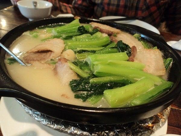 瑶柱高湯春菜煲