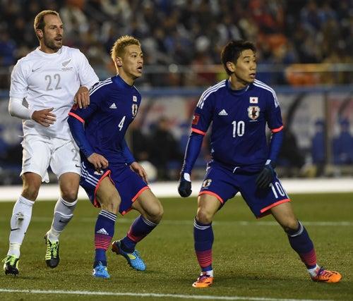 本田圭佑 香川真司 サッカー日本代表 ニュージーランド戦 ワールドカップ