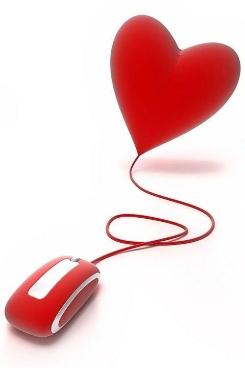Image décorative : dessin d'une souris d'ordinateur relié à un coeur
