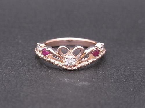 婚約指輪,ピンクゴールド,オーダーメイド