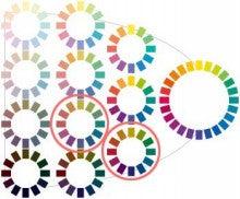 この(ほぼ)反対の位置にある色同士の配色を補色(色相)配色と呼びます。