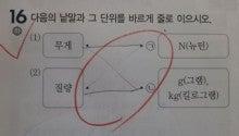 韓国の小学校 科学問題