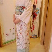 入学式のお母様は着物…