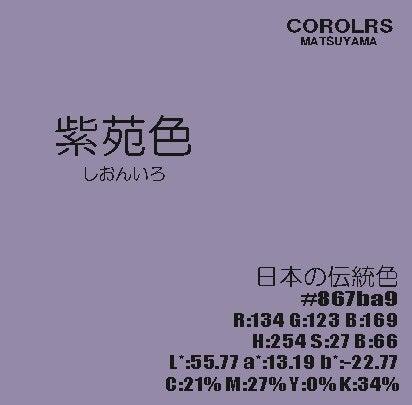 4月11日の色は『紫苑色』   COLORS MATSUYAMA