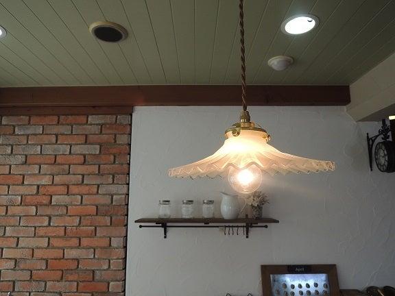 cafe  ミルクガラス ランプ