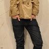今着たいベージュのダブルブレストジャケットの画像