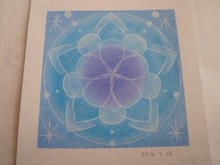 青の曼荼羅アート