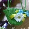 ~お花のバスケットを作りませんか(オプション)~の画像