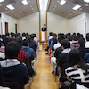 『早稲田大学で講演』の画像