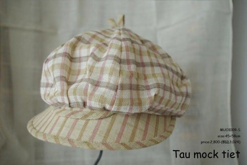 子供帽子綿素材のキャスケット