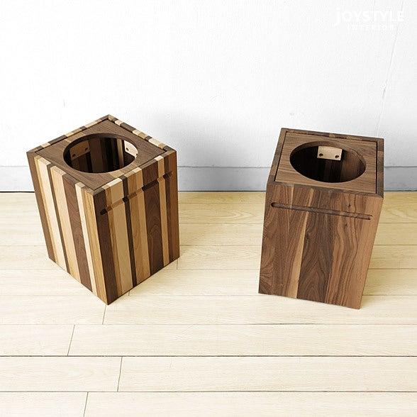 無垢材を贅沢に使用したごみ箱をご紹介