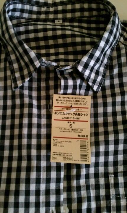 良品計画 無印良品 レディース ギンガムチェック ボタンダウン半袖シャツ 紺×白 XS_