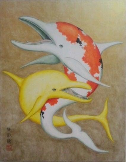 錦海豚 - 雙游圖