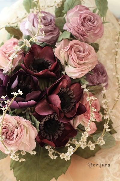 染花 プレゼント 薔薇 白ピンク