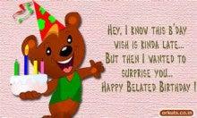 Happy belated Birthday 1