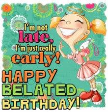 Happy belated Birthday 2