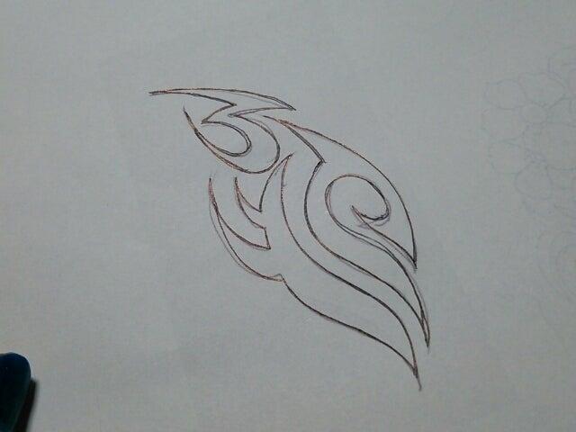 デザインを肌へ転写する方法 Ron Roner Design 群馬県のメヘンディ