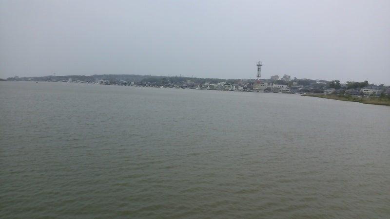 旧三国競艇場のあった九頭竜川河...