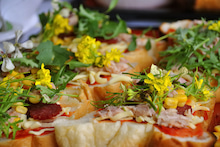 菜の花ピザ