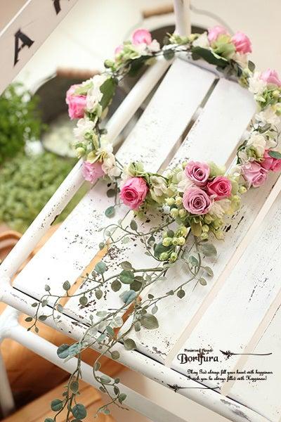 ピンク 花冠 花かんむり