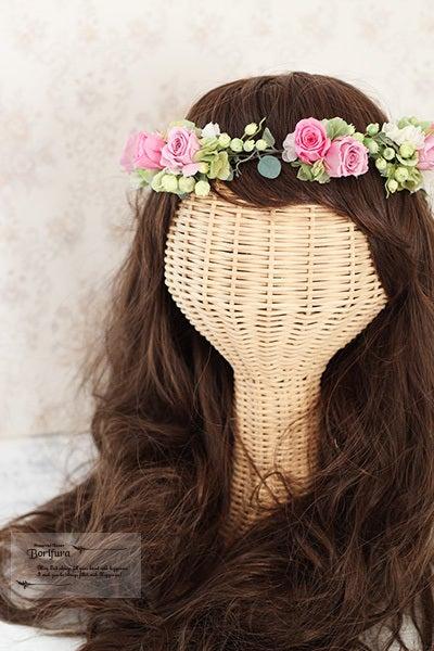 新婦 髪型 花冠