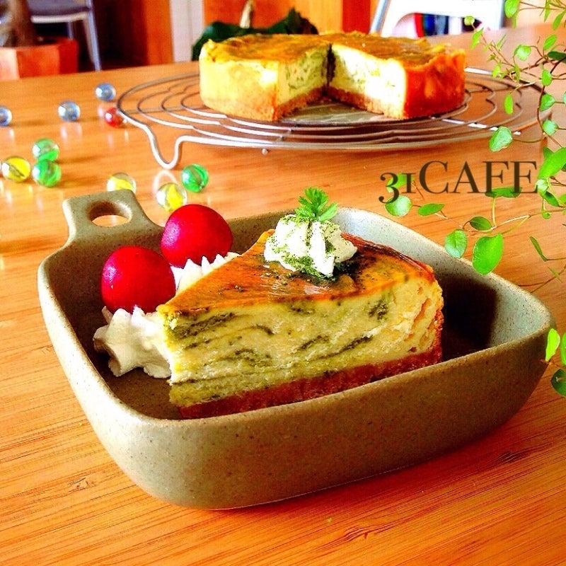 ♡混ぜるだけ♡抹茶のティラミスチーズケーキ♡